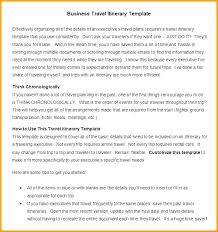Business Trip Agenda Template Detailed Travel Itinerary Template Business Travel Itinerary