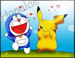 Doraemon và Pikachu