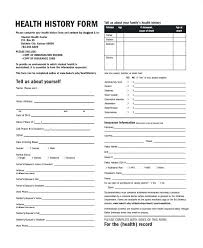 Medical Physical Form Template Patient Health History Form Template History And Physical Form