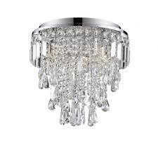 bresna 38cm luxury crystal bathroom flush chandelier with led bulbs included