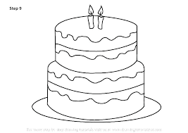 Birthday Cake Printable Birthday Cake Coloring Page Pages Free