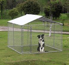 10x10ft outdoor pet dog run house kennel shade cage enclosure w cover playpen