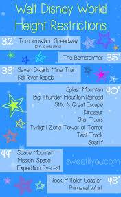 Disney World Height Restrictions Chart Disney World Height Requirements Disney With Kids Disney
