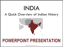 History Of India Powerpoint Student Handouts