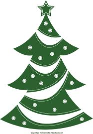 Xmas tree clip art christmas tree clipart black and white image 2