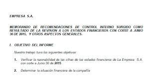 Informe Financiero Ejemplo De Informe Financiero Modelo De Informe Financiero