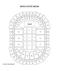 manchester arena seating plan