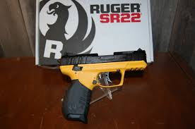 ruger sr22 yellow 22 lr talo edition nib picture 2