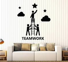 wall stickers for office. Wall Decal Office Vinyl Teamwork Decor Company Stickers Mural For