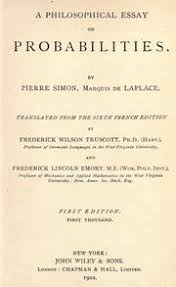 a philosophical essay on probabilities laplace pierre simon  a philosophical essay on probabilities laplace pierre simon marquis de 1749 1827 streaming internet archive