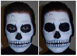 a step by step tutorial on how to do skull face paint for