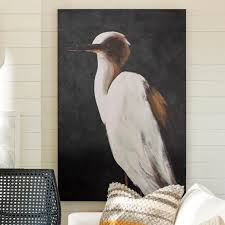 white heron ii wall art