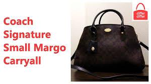 Coach Signature Small Margo Carryall Satchel Handbag 34608 - YouTube