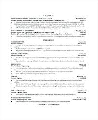 resume computer science master sample resume computer science