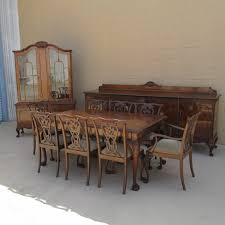 Chippendale Dining Room Table 192039s Italian Chippendale Style Walnut Dining Table From