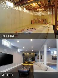Remodeled Basements Before And After