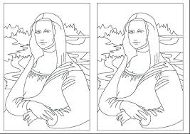 Mona Lisa Coloring Page 8 Mona Lisa Coloring Page Enchanted Learning