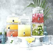 glass beverage dispenser with metal spigot glass drink dispenser glass drink dispenser with metal spigot glass