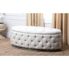 white leather colin beige linen for round tufted ottoman bench home furniture ideas ikea storage cocktail coffee table lar luxury oversized cowhide