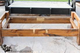 outdoor coffee table makeover by the wood grain cottage