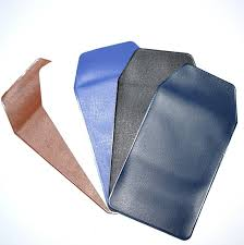 assorted colors pu leather pocket protector for pen leaks black blue brown white dark blue red