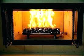 gas fireplace glass cleaner convert to rocks menards