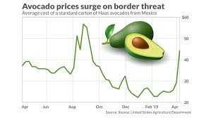 Avocado Price Chart 2018 Avocado Price Spike Illustrates Danger To U S Economy Of
