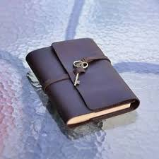 refillable leather journal with key handmade sketchbook blank and lined paper notebook diary b