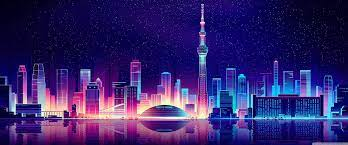 City Illustration Ultra HD Desktop ...