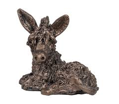 dusty donkey bronze figurines bronzes living room home garden fur feather and fin