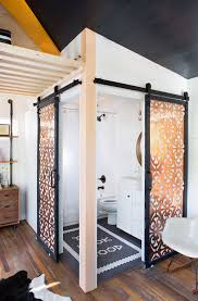 sliding barn doors. Copper Paneled Sliding Doors | Lonny Magazine Photo By Molly Winters Barn