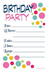 Photo Party Invitations Adult Or Teen Birthday Party Invitations Colorful Dots Fill In Style 20 Count With Envelopes