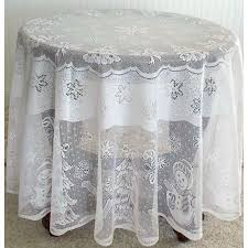 tablecloths snowman family round 70 inch white heritage lace