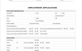 Employment Application Template Word Luxury 18 Job Application Form