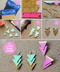 diy earrings and homemade jewelry projects leather triangle earrings easy studs ideas with