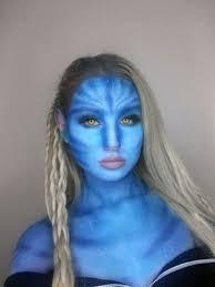 avatar makeup i turned myself into a blonde na vi haha