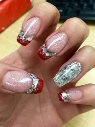 Coffin shaped Christmas nails | Makeup Hair & Nails ...