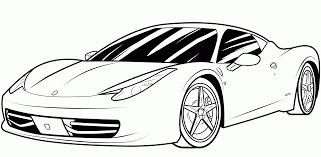 Ferrari Coloring Book With Cool Ferrari Coloring Pages Ferrari