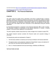operating statement format solution manual for financial accounting in an economic