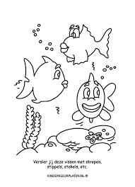 Kleurplaat Aquarium Vijver Vissen Spelletjes