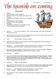 the spanish armada worksheet pdf year  spanish armada role play
