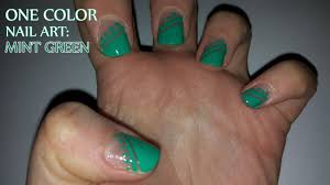 One Color Nail Art: Mint Green - YouTube