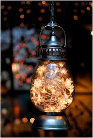 diy lighting projects. 7fill a vintage lantern with string lights diy lighting projects