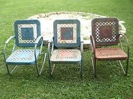 retro metal patio chairs. Image Of: Aluminum Retro Lawn Chairs Metal Patio E