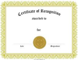 Certificate Of Recognition Template Free Download Training Certificate Template Free Download Free Training