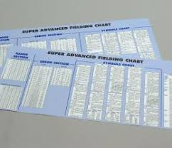 Strat O Matic Super Advanced Fielding Chart Super Adv Fielding Chart Cardboard