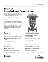 Fisherr Gx Control Valve And Actuator System