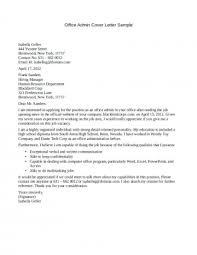006 Covering Letter Example For Administrative Jobs Cover