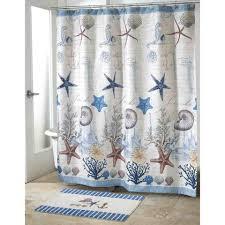 Nautical Bathroom Decorations Fabulous Nautical Theme Bathroom Blue Sea Polyester Shower Curtain