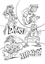 Coloriage Danse Hip Hop A Imprimerl